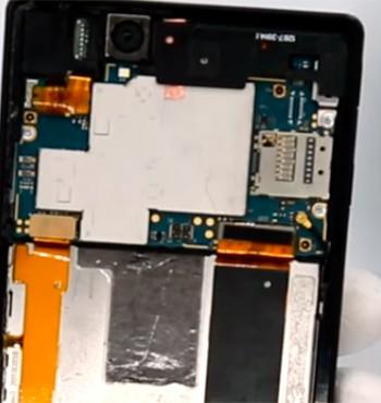 Замена разъёма симки Sony Xperia